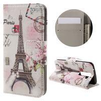 Emotive PU kožené pouzdro na LG K8 - Eiffelova věž