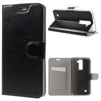Horse PU kožené pouzdro na mobil LG K8 - černé