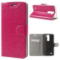 Horse PU kožené pouzdro na mobil LG K8 - rose