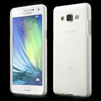 Broušený gelový obal Samsung Galaxy A5 - bílý