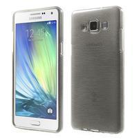 Broušený gelový obal Samsung Galaxy A5 - šedý