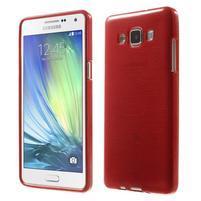 Broušený gelový obal Samsung Galaxy A5 - červený