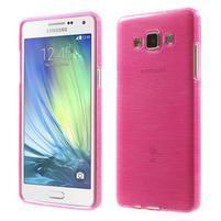 Broušený gelový obal Samsung Galaxy A5 - rose