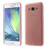 Broušený gelový obal Samsung Galaxy A5 - růžový