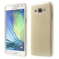 Broušený gelový obal Samsung Galaxy A5 - chamapgne