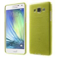 Broušený gelový obal Samsung Galaxy A5 - zelený
