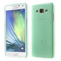 Broušený gelový obal Samsung Galaxy A5 - cyan