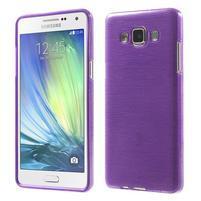 Broušený gelový obal Samsung Galaxy A5 - fialový