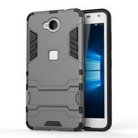 Defender odolný obal na mobil Microsoft Lumia 650 - šedý