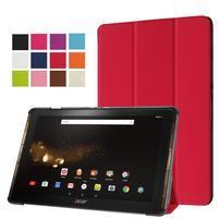 Trifold PU kožené pouzdro na tablet Acer Iconia Tab 10 A3-A40 -   červené