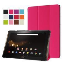 Trifold PU kožené pouzdro na tablet Acer Iconia Tab 10 A3-A40 -   rose