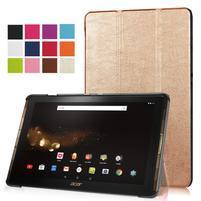 Trifold PU kožené pouzdro na tablet Acer Iconia Tab 10 A3-A40 -   zlaté