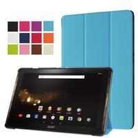 Trifold PU kožené pouzdro na tablet Acer Iconia Tab 10 A3-A40 -   modré