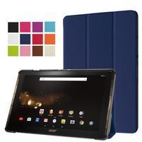 Trifold PU kožené pouzdro na tablet Acer Iconia Tab 10 A3-A40 -   tmavěmodré