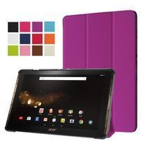 Trifold PU kožené pouzdro na tablet Acer Iconia Tab 10 A3-A40 -   fialové