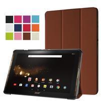 Trifold PU kožené pouzdro na tablet Acer Iconia Tab 10 A3-A40 -   hnědé