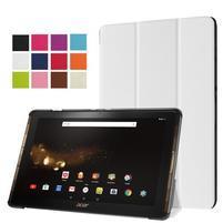 Trifold PU kožené pouzdro na tablet Acer Iconia Tab 10 A3-A40 -   bílé