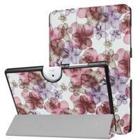 Motive PU kožené pouzdro na Acer Iconia One 10 B3-A40 - květiny