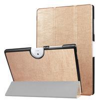 Zapínací PU kožené pouzdro na Acer Iconia One 10 B3-A40 - zlaté