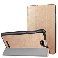 Trifold polohovací pouzdro na tablet Acer Iconia Talk S - zlaté