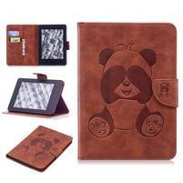 Printy PU kožené pouzdro na Amazon Kindle Paperwhite 1, 2 a 3 - hnědé