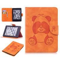 Printy PU kožené pouzdro na Amazon Kindle Paperwhite 1, 2 a 3 - oranžové