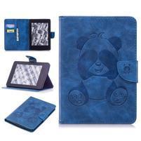 Printy PU kožené pouzdro na Amazon Kindle Paperwhite 1, 2 a 3 - modré