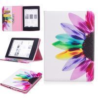 Color PU kožené pouzdro pro Amazon Kindle Paperwhite 1, 2 a 3 - barevné lístky