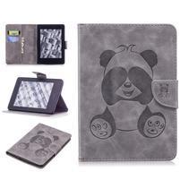 Printy PU kožené pouzdro na Amazon Kindle Paperwhite 1, 2 a 3 - šedé