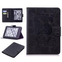 Printy PU kožené pouzdro na Amazon Kindle Paperwhite 1, 2 a 3 - černé