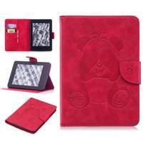 Printy PU kožené pouzdro na Amazon Kindle Paperwhite 1, 2 a 3 - červené