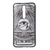 Gelový kryt s imitací vroubkované kůže pro Asus Zenfone 2 ZE551ML - egyptské oko