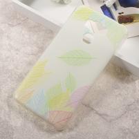 Elegance gelový obal na mobil Asus Zenfone 3 Max ZC553KL - lístečky