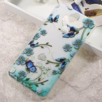 Elegance gelový obal na mobil Asus Zenfone 3 Max ZC553KL - modří motýlci