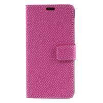 Texture PU kožené zapínací pouzdro na Asus Zenfone 4 Max ZC520KL - rose