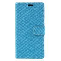 Texture PU kožené zapínací pouzdro na Asus Zenfone 4 Max ZC520KL - modré