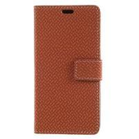 Texture PU kožené zapínací pouzdro na Asus Zenfone 4 Max ZC520KL - hnědé