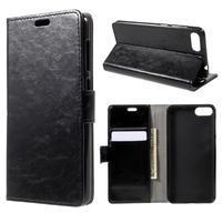 Crazy PU kožené pouzdro na Asus Zenfone 4 Max ZC520KL - černé