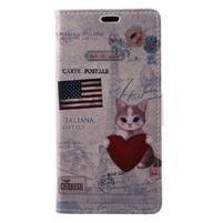 Patty peněženkové pouzdro na Asus Zenfone 4 Max ZC520KL - kočička