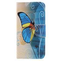 Patty peněženkové pouzdro na Asus Zenfone 4 Max ZC554KL - modrý motýl