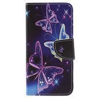 Patty peněženkové pouzdro na Asus Zenfone 4 Max ZC554KL - kouzelní motýlci