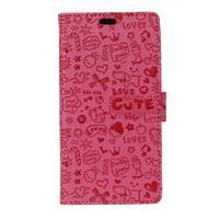 Cartoo knížkové pouzdro na Asus Zenfone 4 Selfie Pro ZD552KL - rose