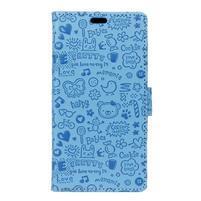 Cartoo knížkové pouzdro na Asus Zenfone 4 Selfie Pro ZD552KL - modré