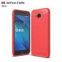 Carbo odolný gelový obal na mobil Asus Zenfone 4 Selfie ZD553KL - červený
