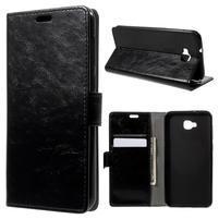 Crazy PU kožené pouzdro na Asus Zenfone 4 Selfie ZD553KL - černé