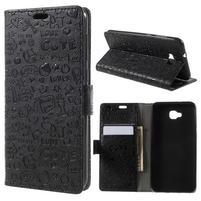 Cartoo PU kožené pouzdro na Asus Zenfone 4 Selfie ZD553KL - černé