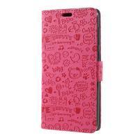 Cartoo PU kožené pouzdro na Asus Zenfone 4 Selfie ZD553KL - rose