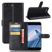 Litch PU kožené pouzdro na mobil Asus Zenfone 4 ZE554KL - černé