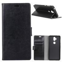 Crazy PU kožené pouzdro na Asus Zenfone 5 Lite ZC600KL - černé