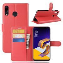 Litchi PU kožené pouzdro na Asus Zenfone 5 ZE620KL - červené